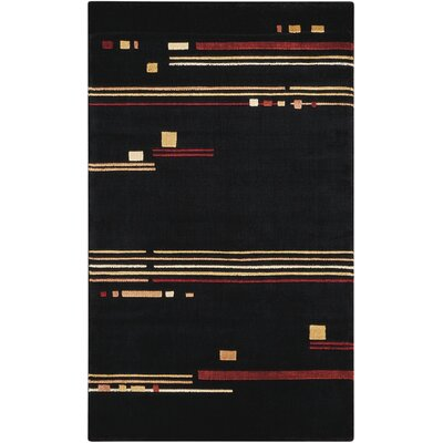 Charlisa Black Area Rug