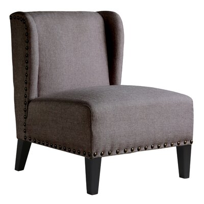Castaneda Wing Back Side Chair Color: Beige Melange