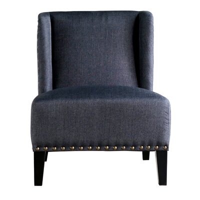 Castaneda Wing Back Side Chair Color: Charcoal