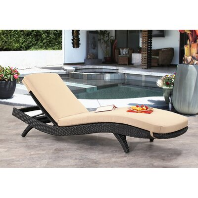 Zanthus Chaise Lounge with Cushion Finish: Espresso