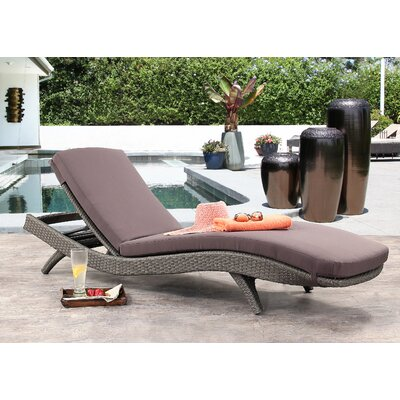 Zanthus Chaise Lounge with Cushion Finish: Gray