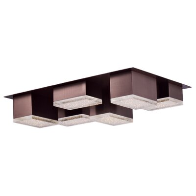 Glaucus 6-Light Flush Mount Base Finish: Coffee