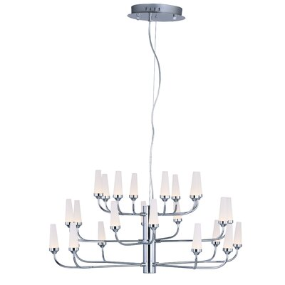 Cygnus 24-Light Sputnik Chandelier Finish: Polished Chrome