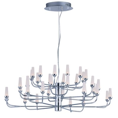 Cygnus 36-Light Sputnik Chandelier Finish: Polished Chrome