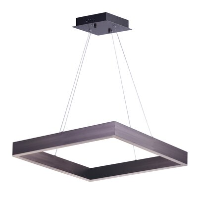 Acamar 1-Light LED Kitchen Island Pendant Finish: Coffee