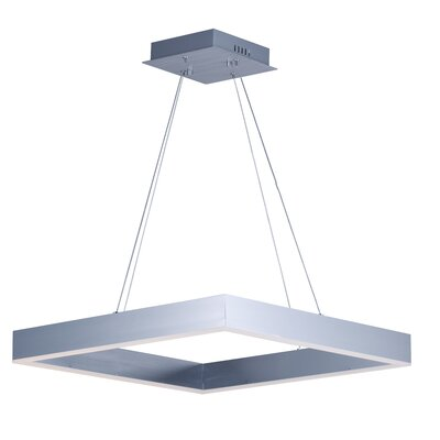 Acamar 1-Light LED Kitchen Island Pendant Finish: Aluminium