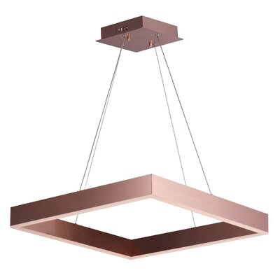 Acamar 1-Light LED Kitchen Island Pendant Finish: Satin Copper