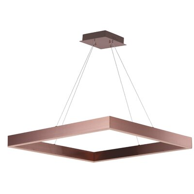 Acamar 1-Light Kitchen Island Pendant Finish: Satin Copper