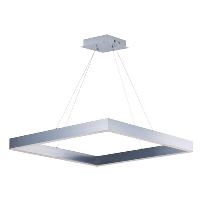 Acamar 1-Light Kitchen Island Pendant Finish: Aluminium