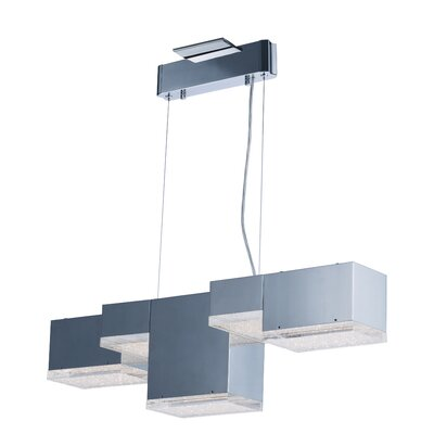 Glaucus 5-Light Kitchen Island Pendant Finish: Polished Chrome