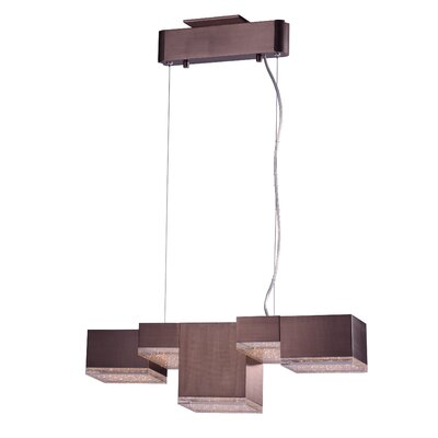 Glaucus 5-Light Kitchen Island Pendant Finish: Coffee
