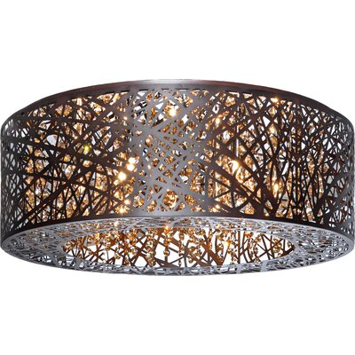Jacinda 9-Light Flush Mount Finish: Bronze