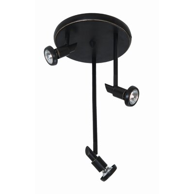 Herod 3-Light Metal Spot Light Finish: Oil Rubbed Bronze