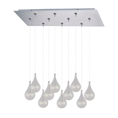 Neal 10-Light RapidJack Pendant and Canopy