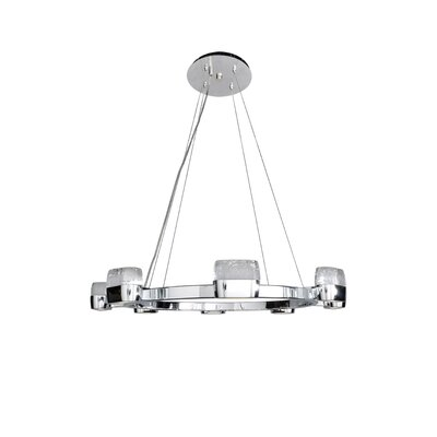 Pollux 16-Light Glass Shade Kitchen Island Pendant