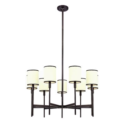 Clarise 9-Light Shaded Chandelier Finish: Polished Nickel
