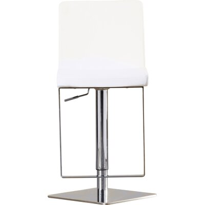 Wesley Adjustable Height Swivel Bar Stool with Cushion