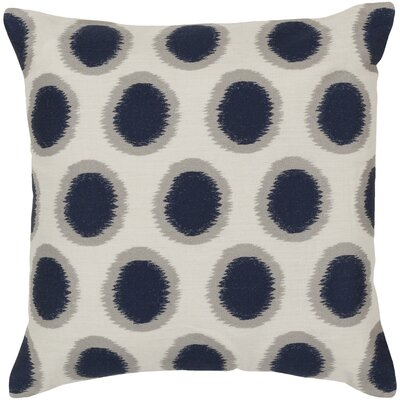 Jacob 100% Linen Throw Pillow Cover Color: NeutralBlue, Size: 18 H x 18 W x 0.25 D