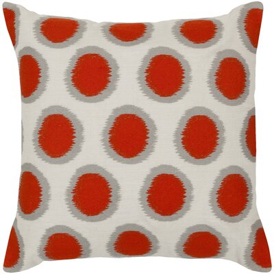 Jacob 100% Linen Throw Pillow Cover Size: 18 H x 18 W x 0.25 D, Color: OrangeNeutral