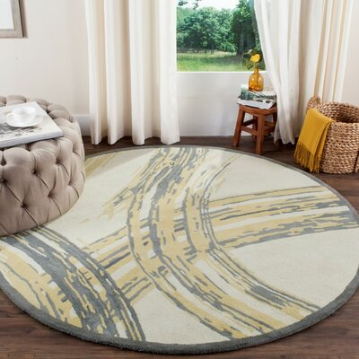Martha Stewart Hand-Tufted Cement Area Rug Rug Size: Rectangle 26 x 43
