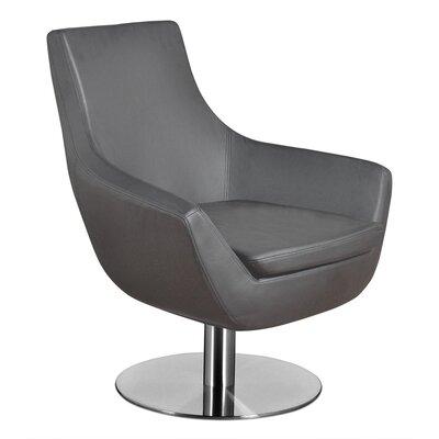 Dakota Lounge Chair Upholstery: Leather - Gray