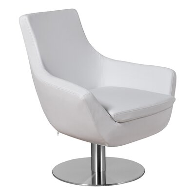 Dakota Lounge Chair Upholstery: White