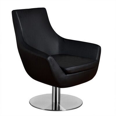 Dakota Lounge Chair Upholstery: Black