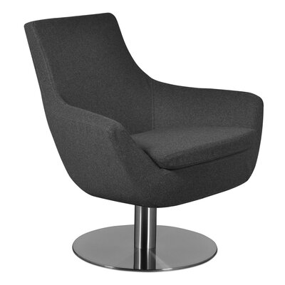 Dakota Lounge Chair Upholstery: Wool - Gray