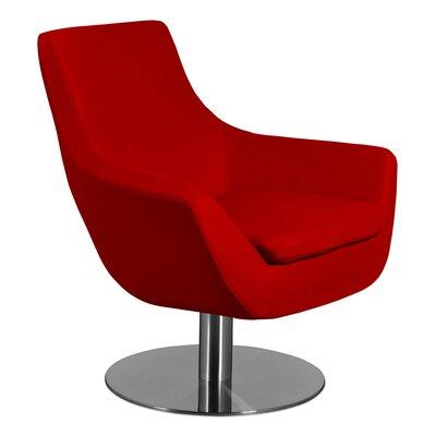 Dakota Lounge Chair Upholstery: Red