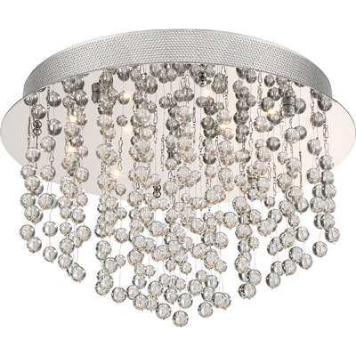 Coletta 22-Light Flush Mount Size: 11 H x 15.75 W x 15.75 D
