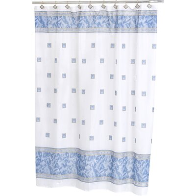 Isai Shower Curtain Color: Slate Blue