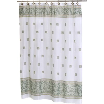 Isai Shower Curtain Color: Jade