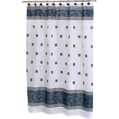 Isai Shower Curtain Color: Black