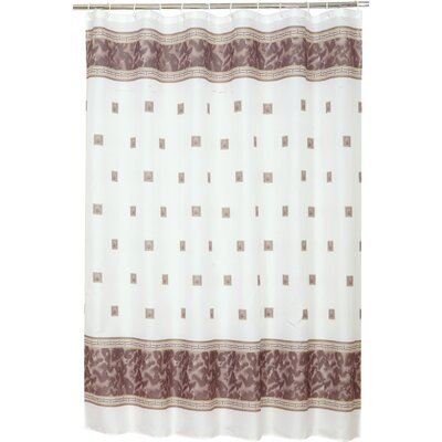 Isai Shower Curtain Color: Brown