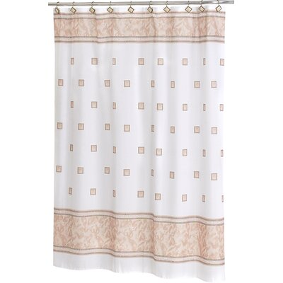 Isai Shower Curtain Color: Ivory