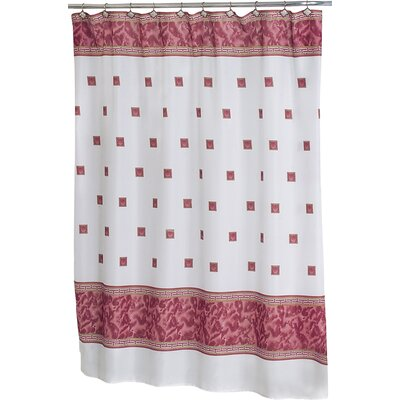 Isai Shower Curtain Color: Burgundy
