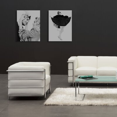 Gallagher Sofa Upholstery: White