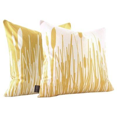 Jax Retrosuede Throw Pillow Size: 18 x 18, Color: Sherbet