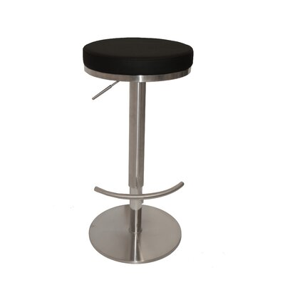 Caudell Adjustable Height Bar Stool Upholstery Color: Upholstery