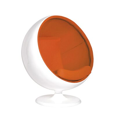 Aarav Swivel Balloon Chair Color: Orange