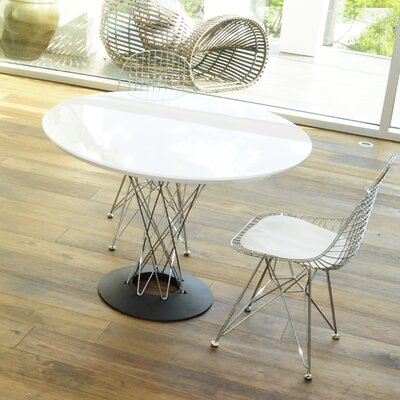 Aarush Dining Table Top Finish: White