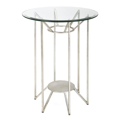 Braelynn Metal and Glass End Table