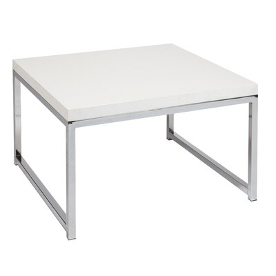 Mapleton End Table Color: Chrome / White