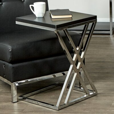 Mapleton End Table Color: Black