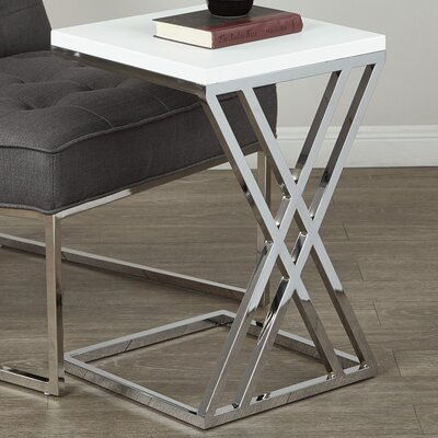 Mapleton End Table Color: White