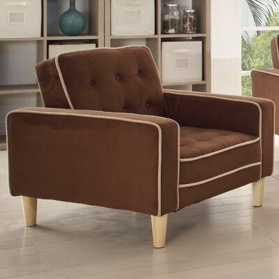 Navi Twill Armchair Upholstery: Chocolate