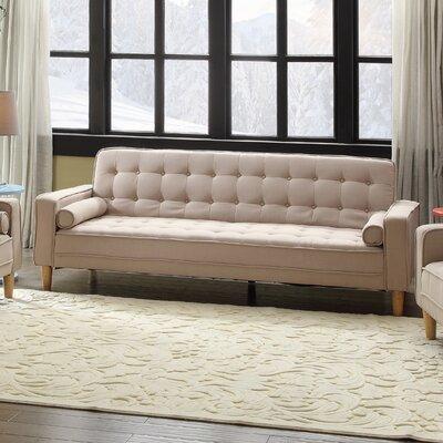 Navi Twill Sleeper Sofa Upholstery: Tan