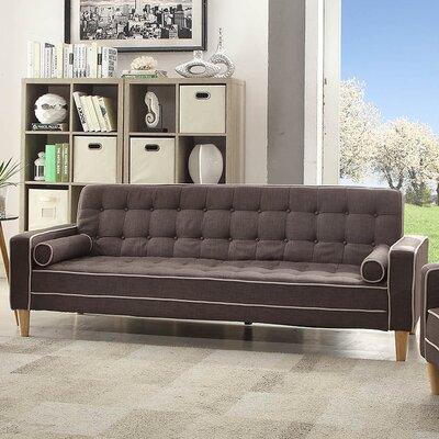 Navi Twill Sleeper Sofa Upholstery: Gray