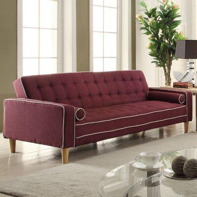 Derek Twill Sleeper Sofa Upholstery: Berry