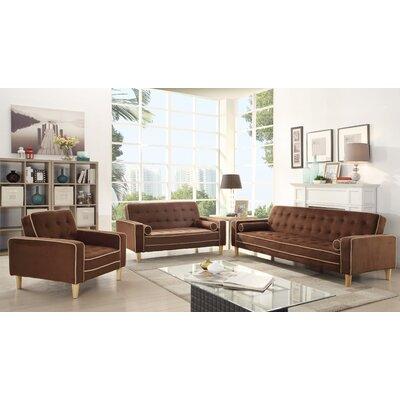 Derek Twill Sleeper Sofa Upholstery: Chocolate